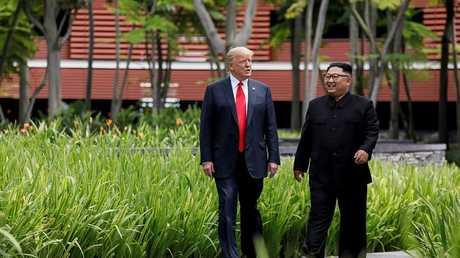 ترامب وكيم، سنغافورة 12 يونيو 2018