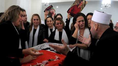 جنازة محمد أبو دياب، قرية الجاهلية، جبل لبنان، 2 ديسمبر 2018