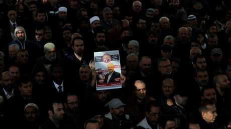 صلاة الغائب على جمال خاشقجي في اسطنبول