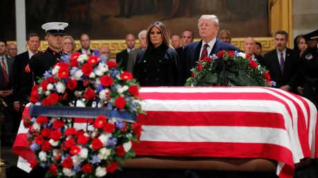 مراسم وداع الرئيس الأمريكي الأسبق الراحل جورج بوش الأب في واشنطن