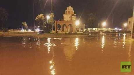 الأمطار تغمر بنغازي