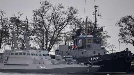 السفن الحربية الأوكرانية المحتجزة في ميناء كيرتش الروسي