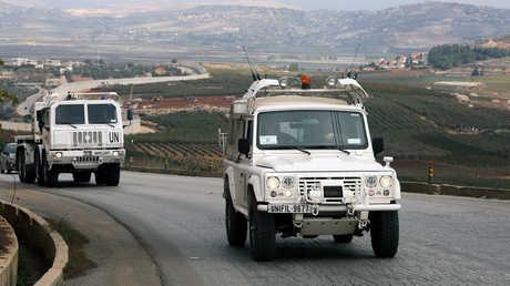 """دورية لبعثة """"اليونيفيل"""" على الحدود الإسرائيلية اللبنانية"""
