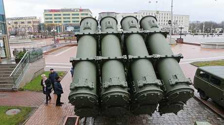 صورة ارشيفية لبطارية صواريخ ساحلية روسية