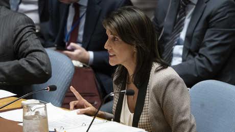 مندوبة الولايات المتحدة الأمريكية المنتهية ولايتها لدى الأمم المتحدة نيكي هيلي