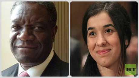 المرشحان لجائزة نوبل للسلام الإيزيدية ناديا مراد والطبيب الكونغولي دينيس موكويغي