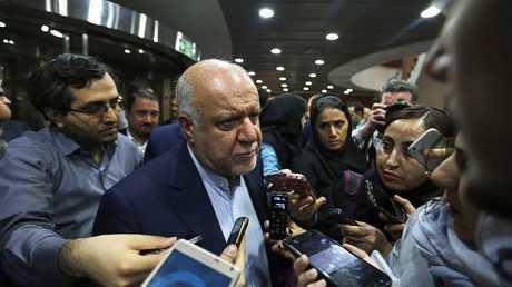 Iranian Minister of Oil begine Zenganeh