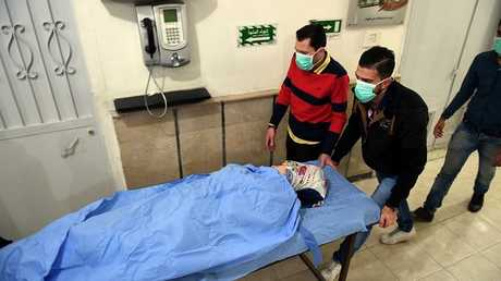 إصابات جراء هجوم بسلاح كيميائي، حلب، سوريا، 24 نوفمبر 2018