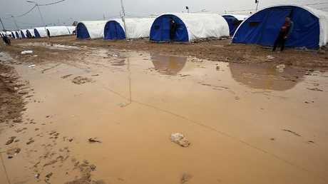 مخيم للنازحين في محافظة نينوى (صورة أرشيفية)