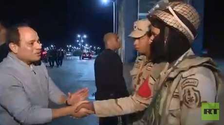 الرئيس المصري عبد الفتاح السيسي في شرم الشيخ