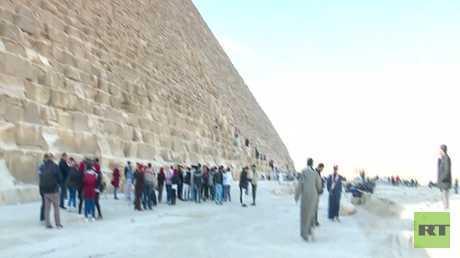 نشاط علمي وتربوي بمحيط الأهرامات