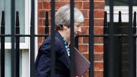 رئيسة الوزراء البريطانية تيريزا ماي، لندن، بريطانيا، 10 ديسمبر 2018