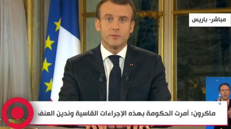 ماكرون يخاطب الفرنسيين من قصر الإليزيه بعد أسابيع من احتجاجات السترات الصفراء