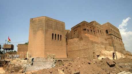 جانب من قلعة أربيل التاريخية شمال العراق