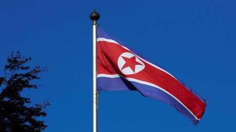 علم كوريا الشمالية - صورة من الأرشيف -