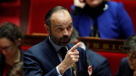 رئيس الوزراء الفرنسي إدوار فيليب يجيب عن أسئلة نواب الجمعية الوطنية حول أزمة