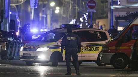 الشرطة في مدينة ستراسبورغ إثر الهجوم المسلح