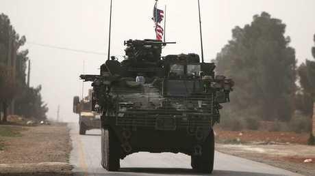 عربات أمريكية بمنبج شمالي سوريا - أرشيف -