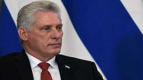 رئيس مجلس الدولة الكوبي ميغيل دياز كانيل