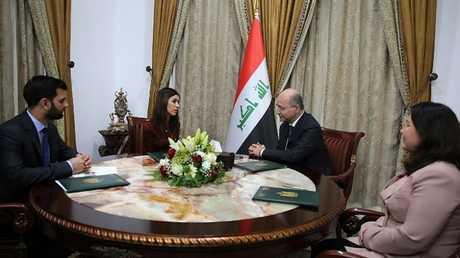 الرئيس العراقي يستقبل نادية مراد بعد يوم من تسلمها نوبل للسلام