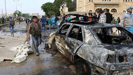 آثار تفجير سيارة ملغومة في أعزاز (صورة أرشيفية)