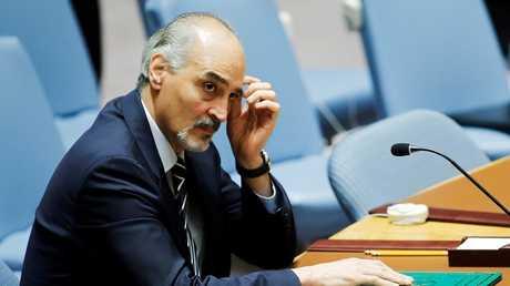 مندوب سوريا الدائم في الأمم المتحدة، بشار الجعفري، نيويورك، 8 أكتوبر 2016