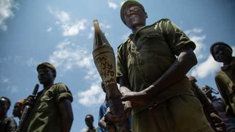 أفراد قوات مناهضة للرئيس سلفاكير ميارديت في جنوب السودان
