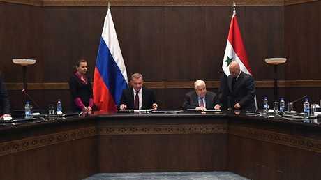 اجتماع اللجنة الحكومية المشتركة الروسية - السورية في دمشق