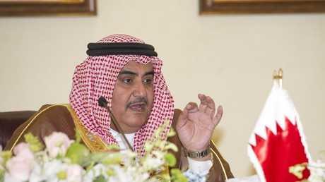 أرشيف - وزير الشؤون الخارجية البحريني خالد بن أحمد آل خليفة، الكويت، 9 أبريل 2013