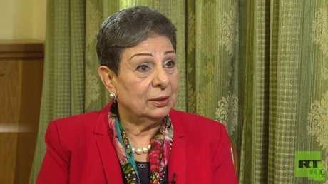عضو اللجنة التنفيذية لمنظمة التحرير الفلسطينية الدكتورة حنان عشراوي