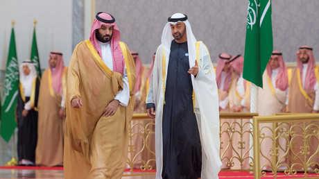 ولي عهد أبو ظبي، الشيخ محمد بن زايد آل نهيان، وولي العهد السعودي، الأمير محمد بن سلمان