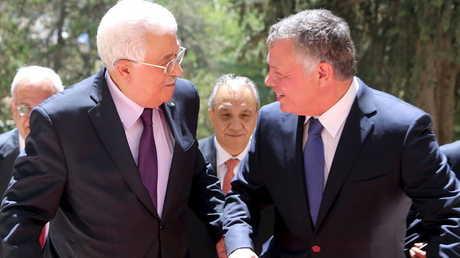العاهل الأردني الملك عبد الله الثاني والرئيس الفلسطيني محمود عباس