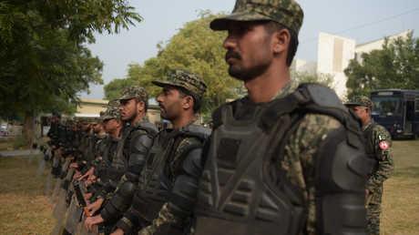 عناصر من قوات فيلق الحدود الباكستانية