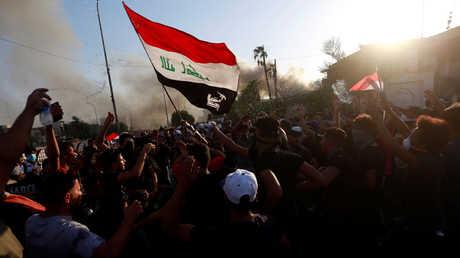 مظاهرات في البصرة - صورة أرشيفية
