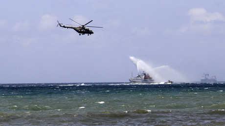 وحدات من البحرية الروسية خلال استعراض عسكري في طرطوس