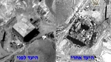 الصورة التي نشرتها إسرائيل لموقع الكبر مدعية أنه يضم مفاعلا نوويا قيد الإنشاء