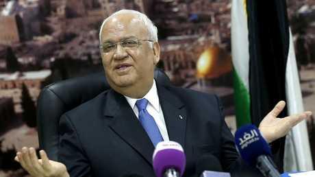 أمين سر اللجنة التنفيذية لمنظمة التحرير الفلسطينية وكبير المفاوضين الفلسطينيين صائب عريقات