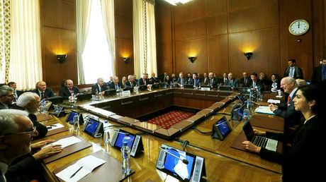 صورة من الاجتماع الرعابي في جنيف حول اللجنة الدستورية السورية