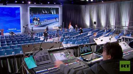 مؤتمر صحفي السنوي للرئيس بوتين. الاستعدادات الأخيرة