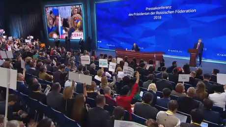 المؤتمر الصحفي السنوي للرئيس الروسي، فلاديمير بوتين