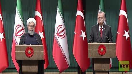 أردوغان وروحاني يؤكدان التمسك بـ