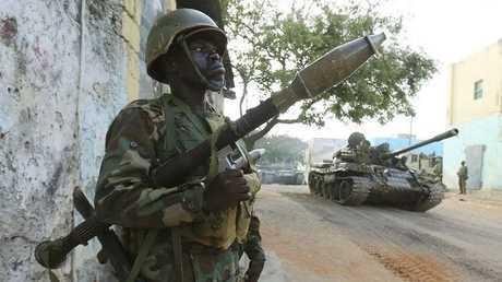 صورة ارشيفية لمقاتل من الجيش الصومالي