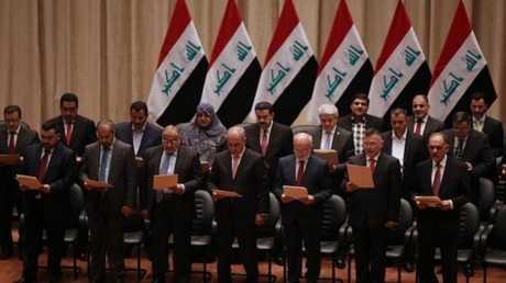 حكومة عبد المهدي أثناء أدائها القسم - أرشيف