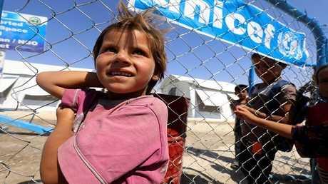 أطفال داخل مخيم لجوء في سوريا - أرشيف