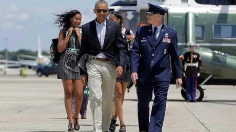 أرشيف - أوباما وعائلته، ماريلاند، الولايات المتحدة، 17 يونيو 2016