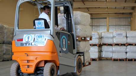 مساعدات إنسانية مخصصة لليمنيين
