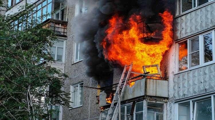 مقتل 7 أشخاص في حريق بمبنى سكني في مقاطعة أورينبورغ