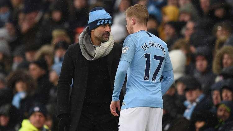 غوارديولا يأمل في عودة دي بروين لمواجهة ليفربول