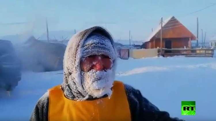 سباق جري بدرجة حرارة 50 تحت الصفر