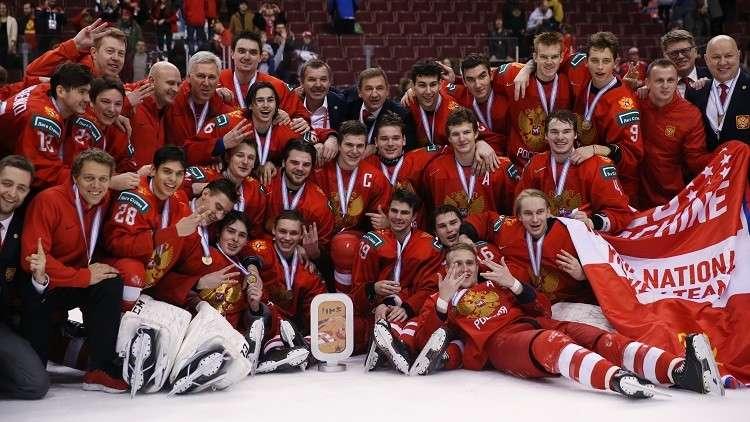 خطأ فادح بحق روسيا في بطولة العالم للهوكي في كندا